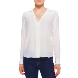 EQUIPMENT Adalyn Silk Long-Sleeve White Blouse